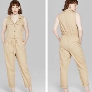Wild fable tan utility jumpsuit